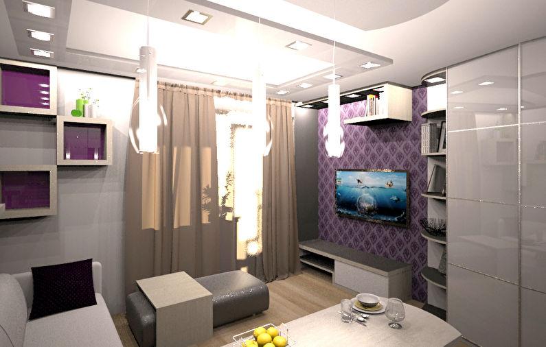 Шкаф-купе в интерьере квартиры-студии