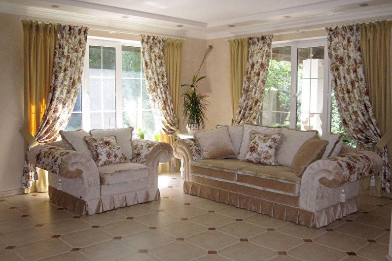 Шторы в стиле прованс - Классические шторы