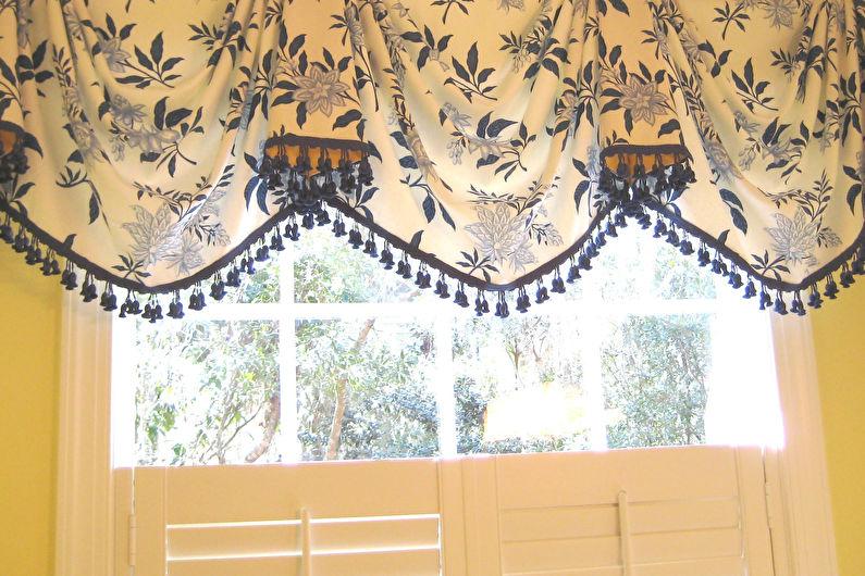 Шторы в стиле прованс - Австрийские шторы