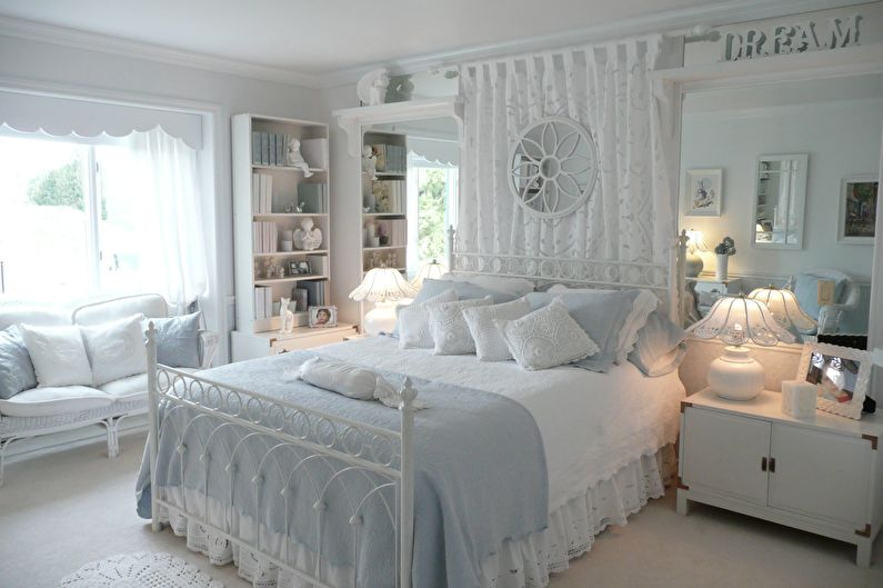 Белые шторы в стиле прованс