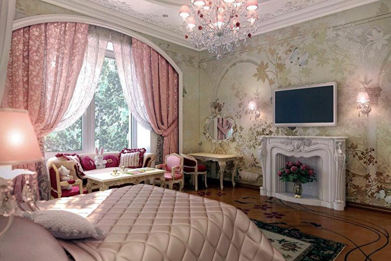 Розовые шторы в стиле прованс