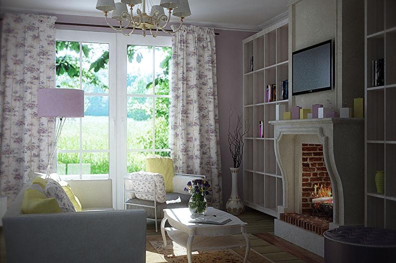 Шторы в стиле прованс для маленьких комнат