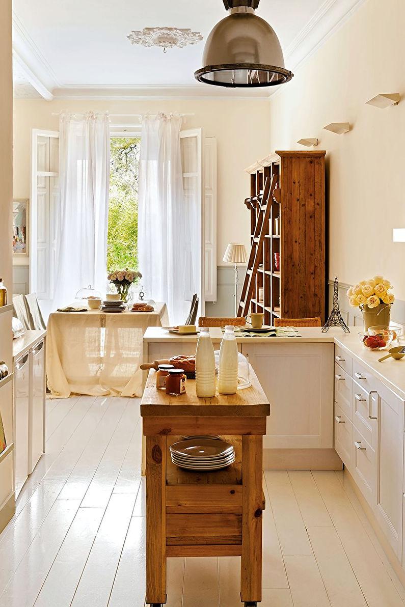 Шторы в стиле прованс на кухне - фото