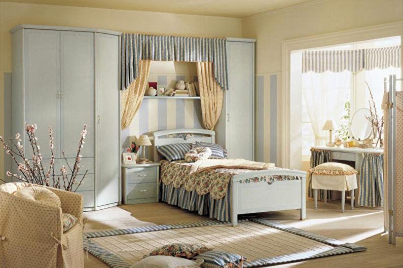 Шторы в стиле прованс в спальне - фото