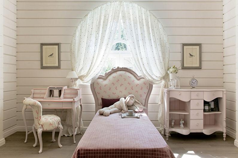 Шторы в стиле прованс в детской комнате - фото