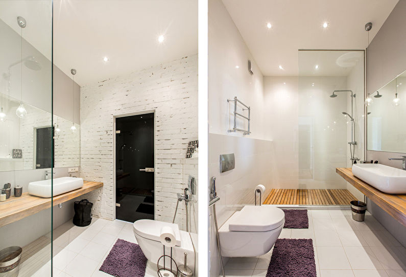 Дизайн квартиры в стиле лофт для молодой пары - фото