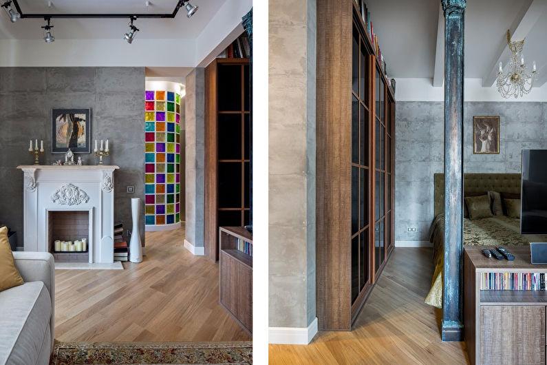 Дизайн интерьера квартиры в стиле лофт, Москва - фото