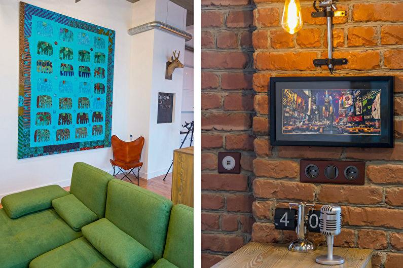 Дизайн квартиры в стиле лофт для молодой пары, Тюмень - фото