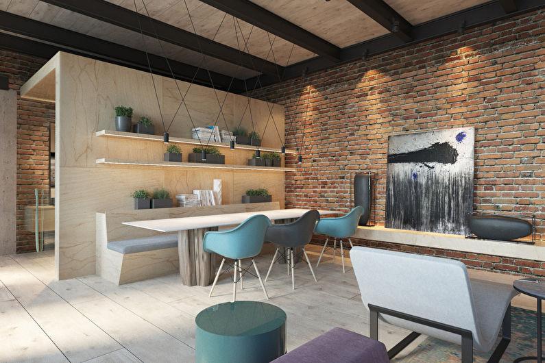Дизайн квартиры в стиле лофт, 225 м2 - фото
