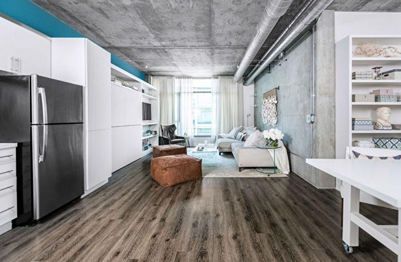 Интерьер квартиры в стиле лофт, США - фото