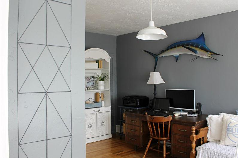 Декор комнаты своими руками - Украшаем стену гвоздями и нитками