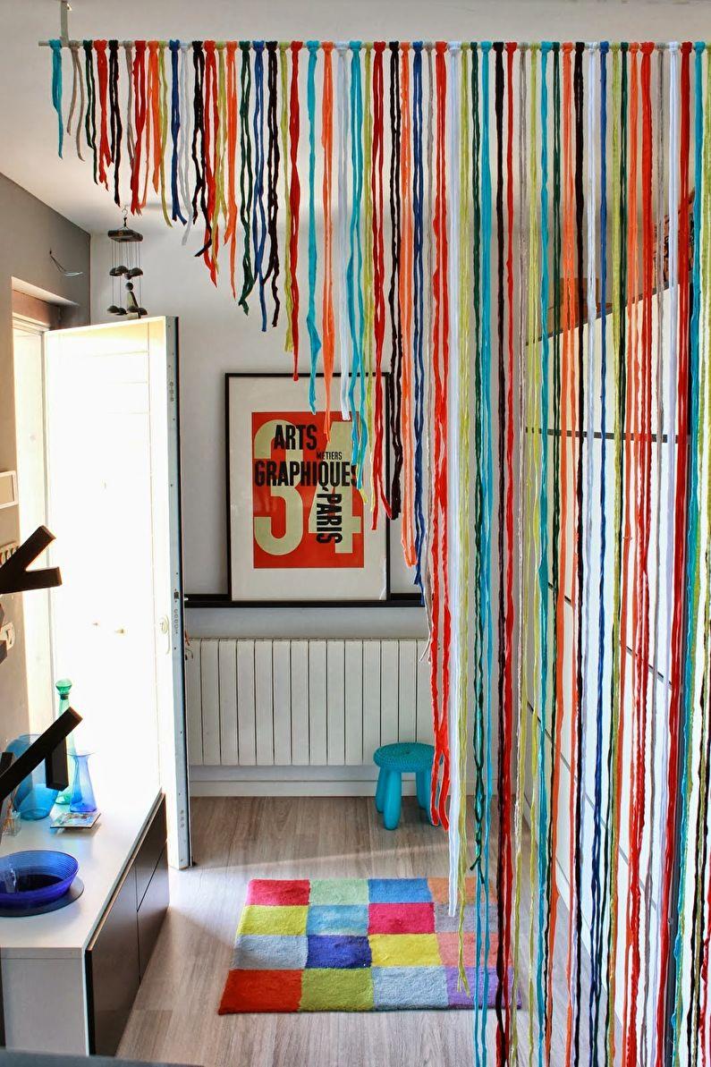 Декор комнаты своими руками - Шторы для дверных проемов