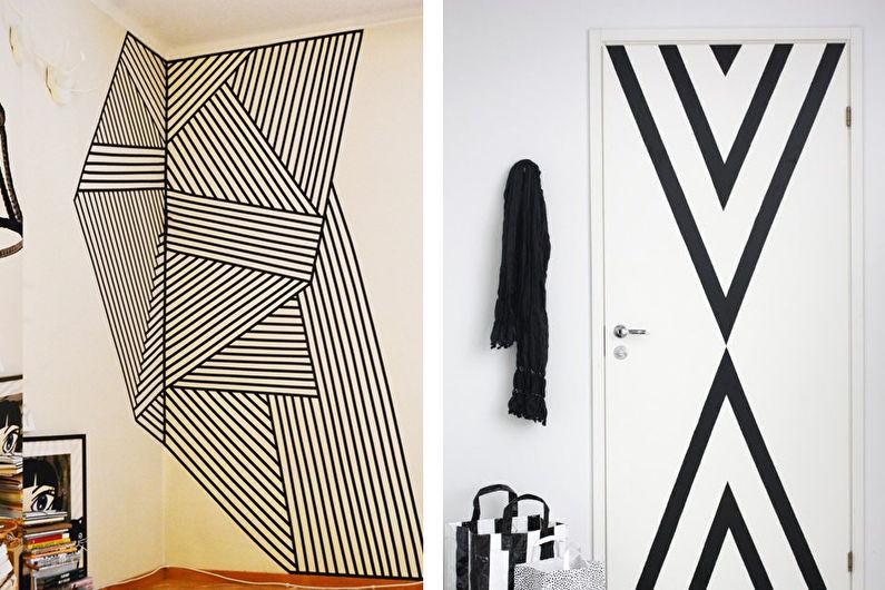 Декор комнаты своими руками - Возможности декоративного скотча