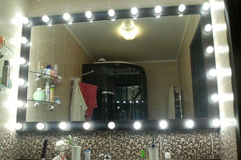 Декор комнаты своими руками - Рама для зеркала с подсветкой