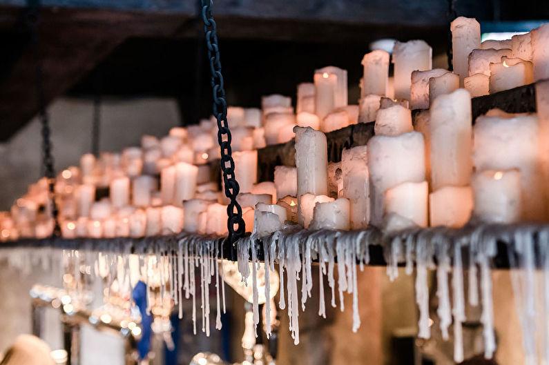 Декор комнаты своими руками - Свечи в интерьере