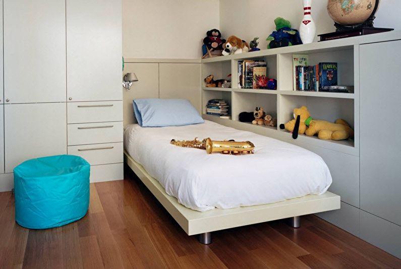 Интерьер детской комнаты для мальчика-школьника
