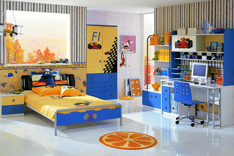 Дизайн детской комнаты для мальчика в современном стиле