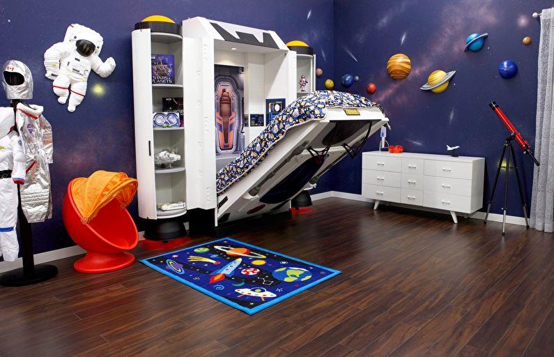 Дизайн детской комнаты для мальчика в космическом стиле
