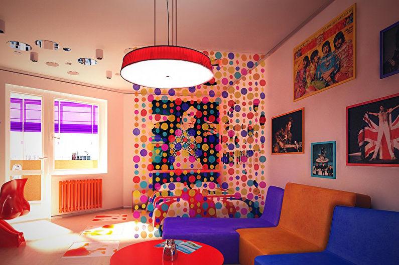 Дизайн детской комнаты для мальчика в стиле поп-арт