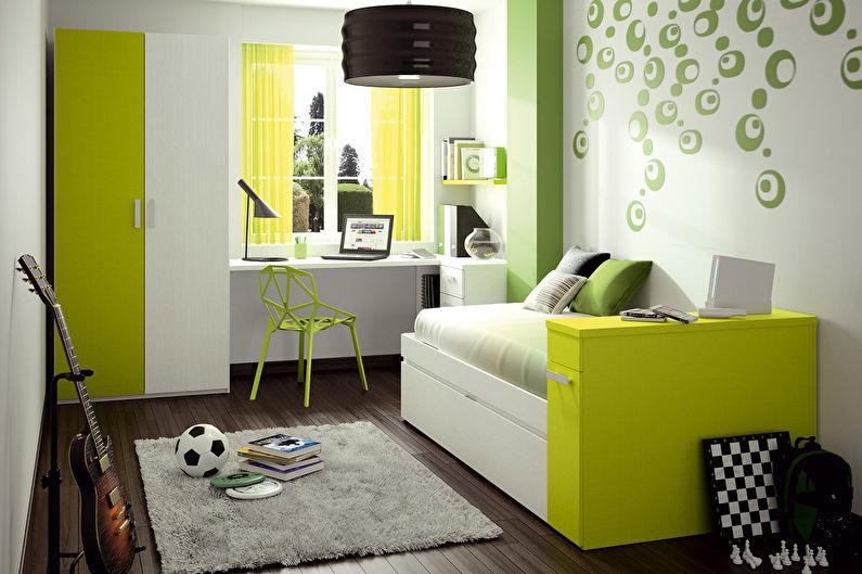 Зеленая детская для мальчика - Дизайн интерьера