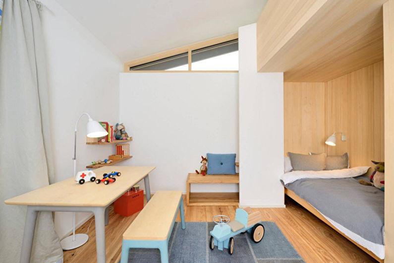 Белая детская для мальчика - Дизайн интерьера