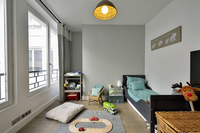 Дизайн детской комнаты для мальчика - Отделка стен