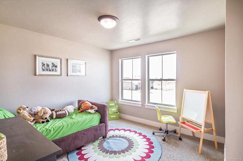 Дизайн детской комнаты для мальчика - Отделка потолка