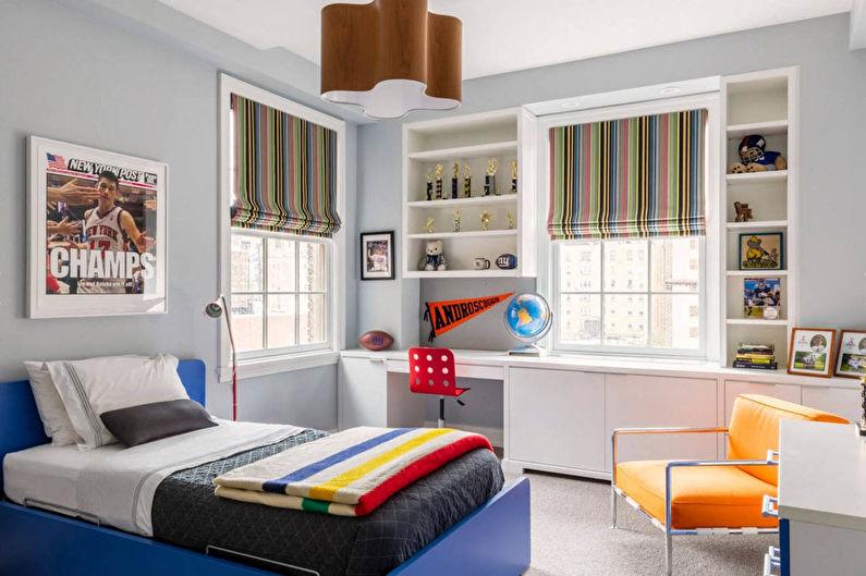 Дизайн интерьера маленькой детской комнаты для мальчика