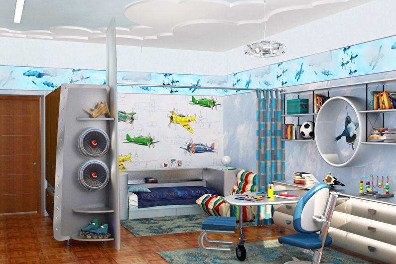 дизайн детской комнаты для мальчика 75 фото идеи интерьеров