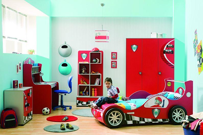 Дизайн интерьера детской комнаты для мальчика - фото