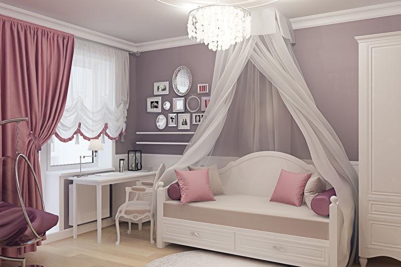 Дизайн детской комнаты для девочки в классическом стиле