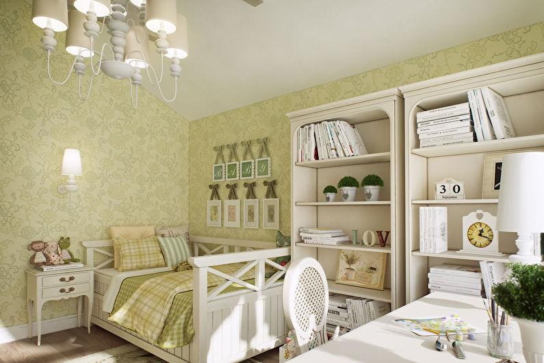 Дизайн детской комнаты для девочки в стиле прованс