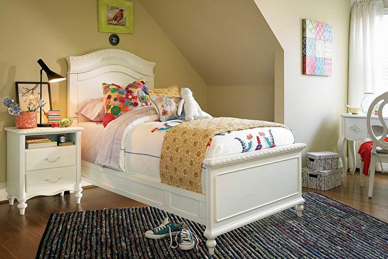 Бежевая детская комната для девочки - Дизайн интерьера