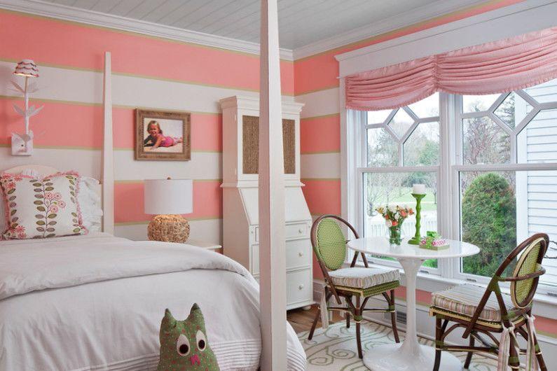 Дизайн детской комнаты для девочки - Отделка стен