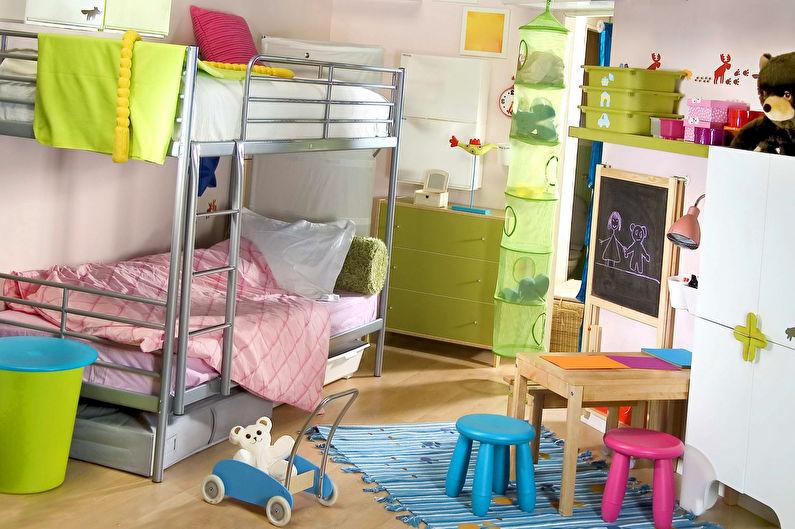 Дизайн интерьера маленькой детской комнаты для девочки