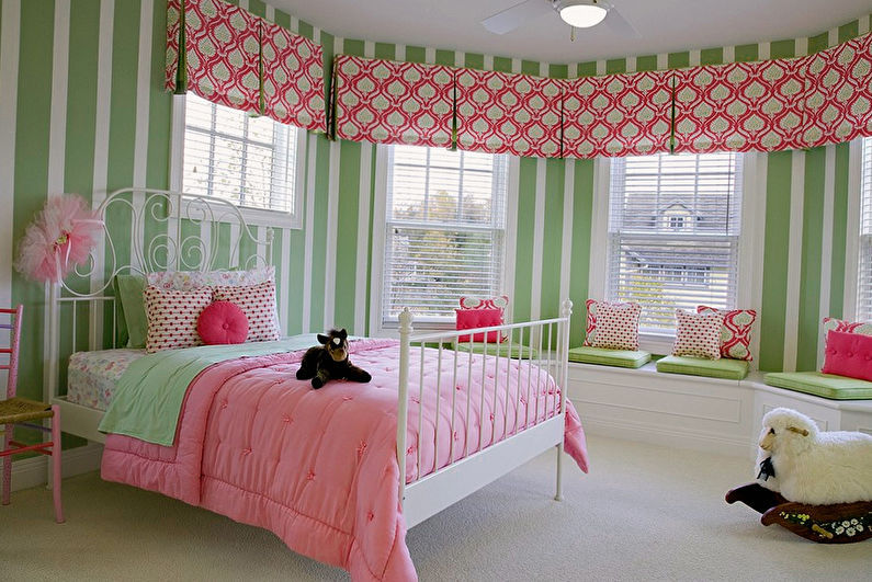 Дизайн интерьера детской комнаты для девочки - фото
