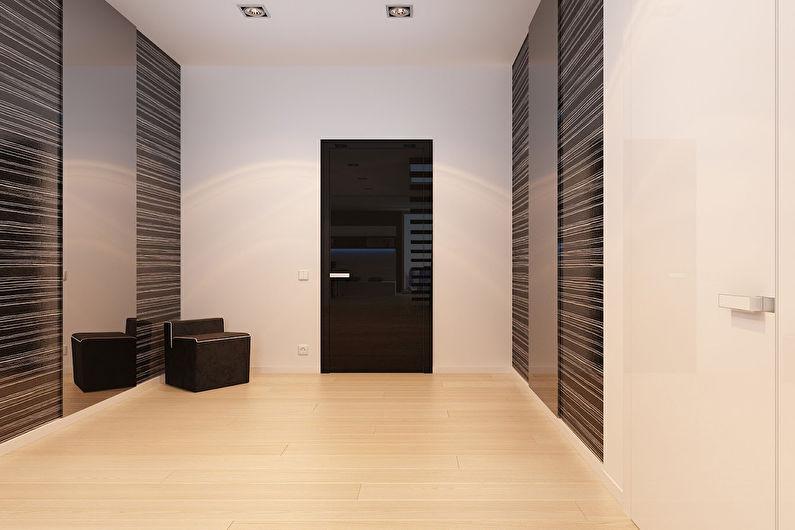Шкафы-купе для прихожей в стиле минимализм