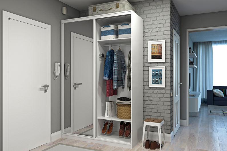 Шкафы-купе для прихожей в стиле лофт