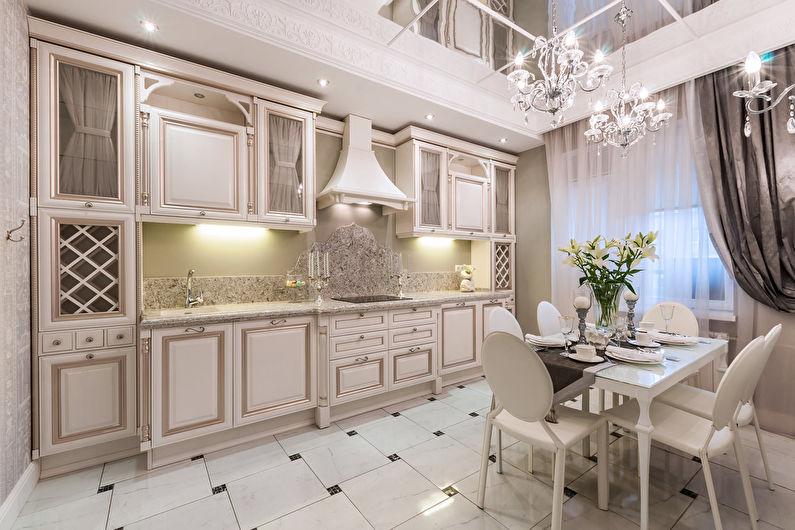 Дизайн кухни 12 кв.м. в классическом стиле