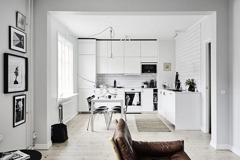 Дизайн кухни 12 кв.м. в скандинавском стиле