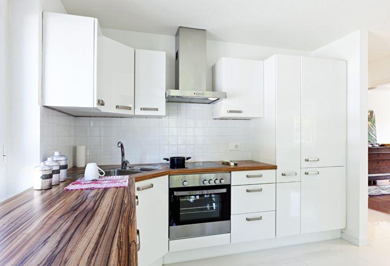 Белая кухня 12 кв.м. - Дизайн интерьера