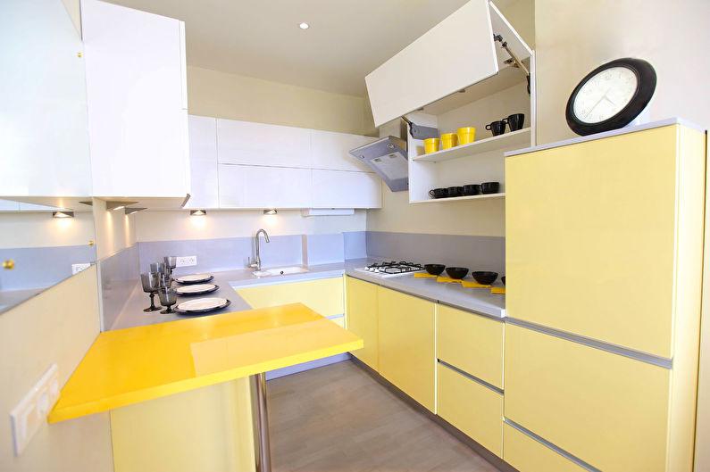 Желтая кухня 12 кв.м. - Дизайн интерьера