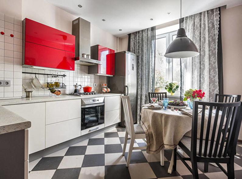 Дизайн кухни 12 кв.м. - Отделка пола