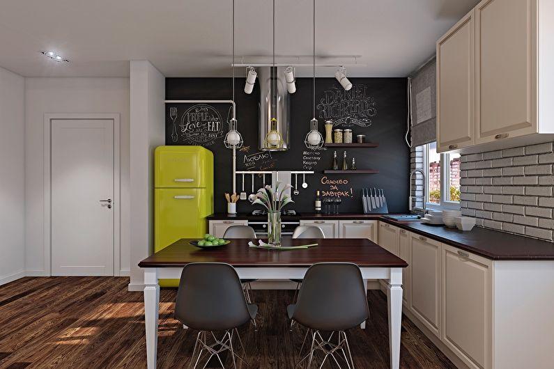 Дизайн кухни 12 кв.м. - Отделка стен