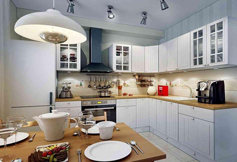 Дизайн кухни 12 кв.м. - Правильное освещение