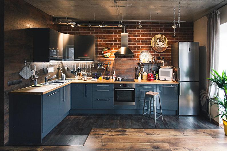 Дизайн интерьера кухни 12 кв.м. - фото