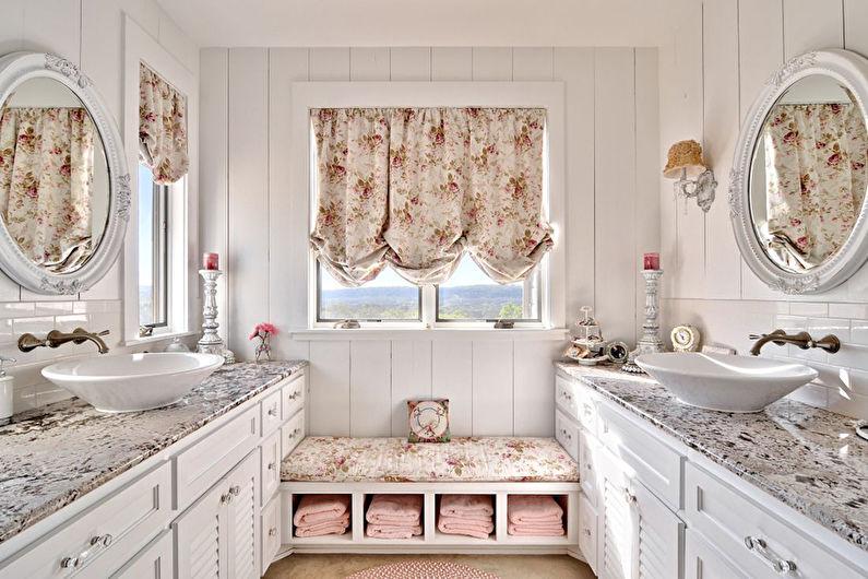 Дизайн интерьера ванной комнаты в стиле прованс - Особенности
