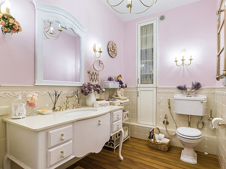 Дизайн ванной комнаты в стиле прованс - Отделка
