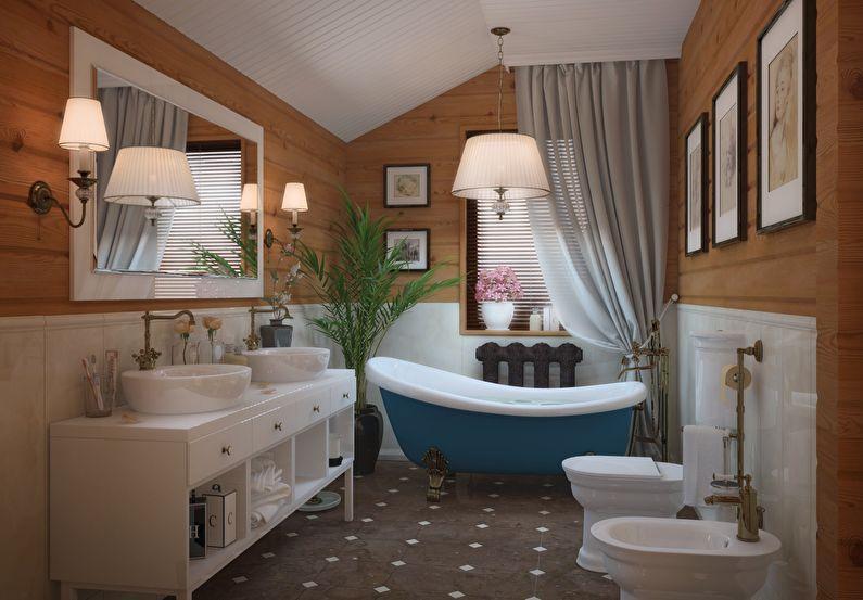 Дизайн ванной комнаты в стиле прованс - Сантехника
