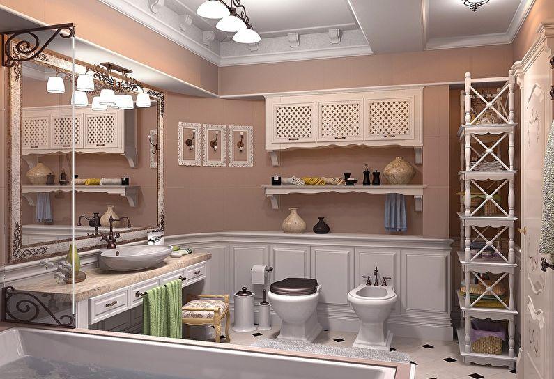 Дизайн ванной комнаты в стиле прованс - Мебель
